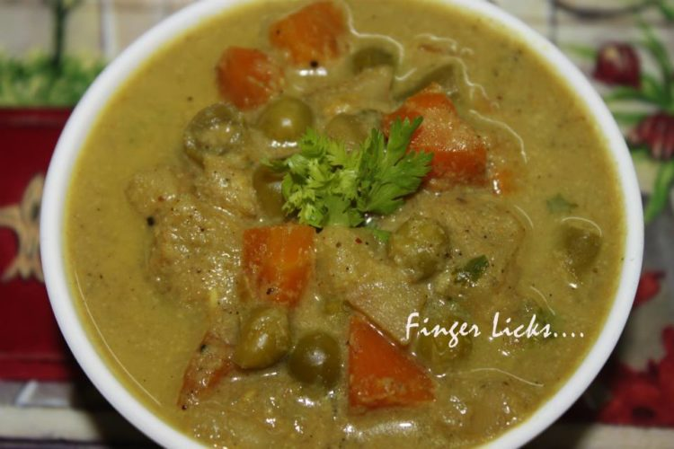 Mixed Vegetable Kurma/ Vegetable Korma