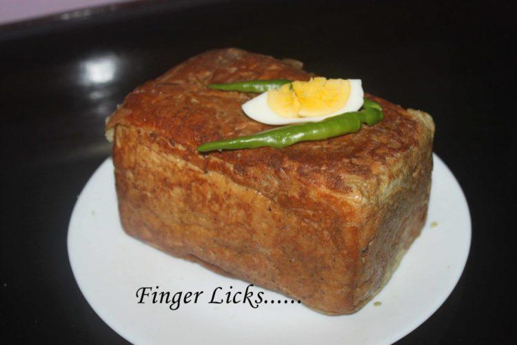 Bread Nirachathu/ Bread Stuffed with meat masala