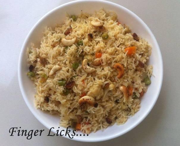 Easy Vegetable pulao