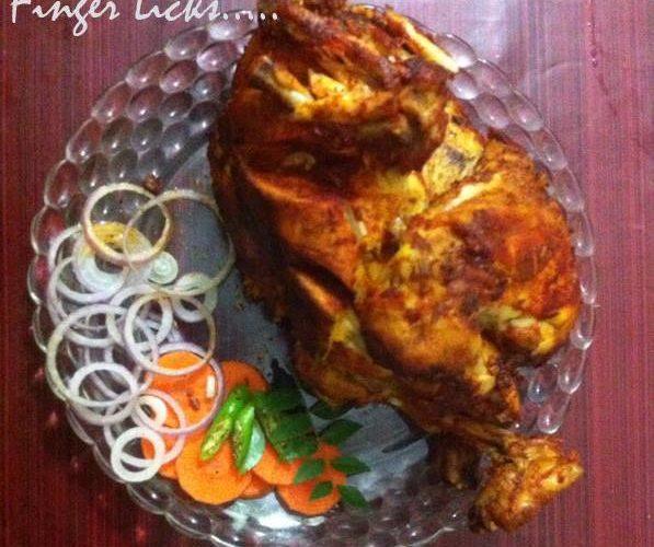 Full Chicken Fry/ Kozhi Nirthi Porichathu