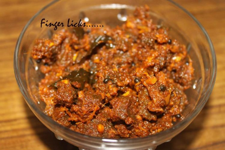 Beef Pickle/ Malabar Style Beef Achar