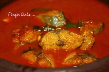 Ayala Mulakittath/ Red Fish curry