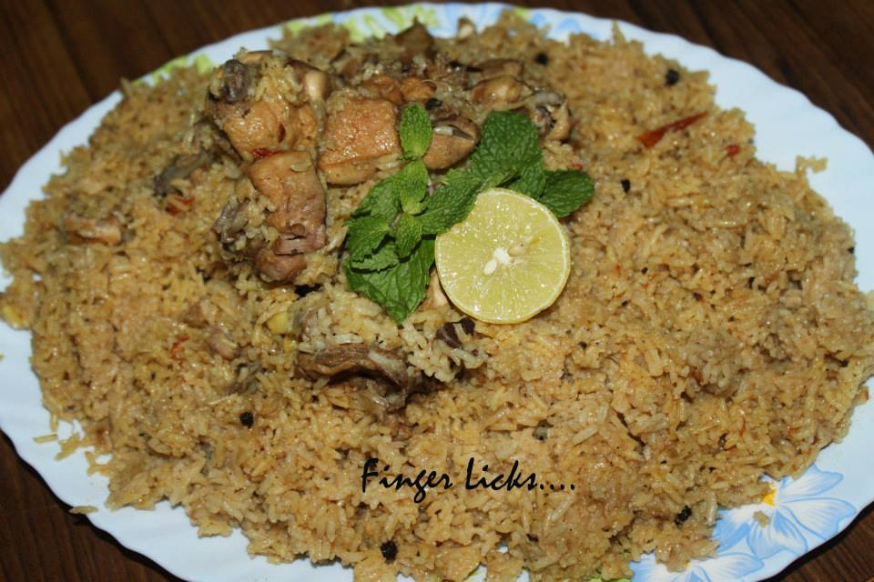Chicken Kabsa Easy Arabian Kabsa Tastes Of Malabar