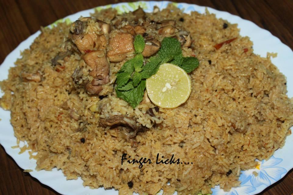 Chicken Kabsa Easy Arabian Kabsa Tastes Of Malabar