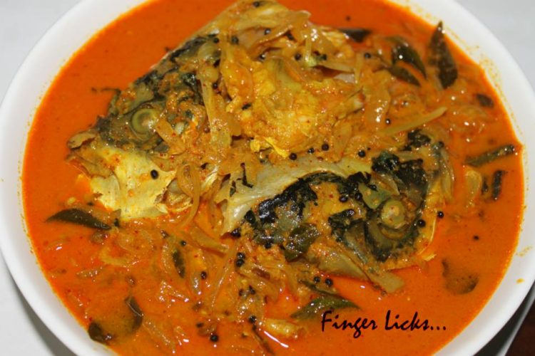 Fish Head Curry/ Meen Thala Curry