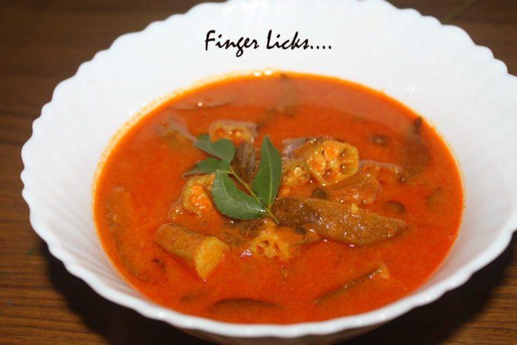Vendakka Mulak Curry/ Okra Curry