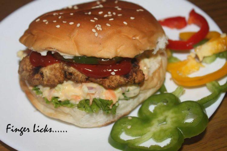 Zinger Burger with Coleslaw