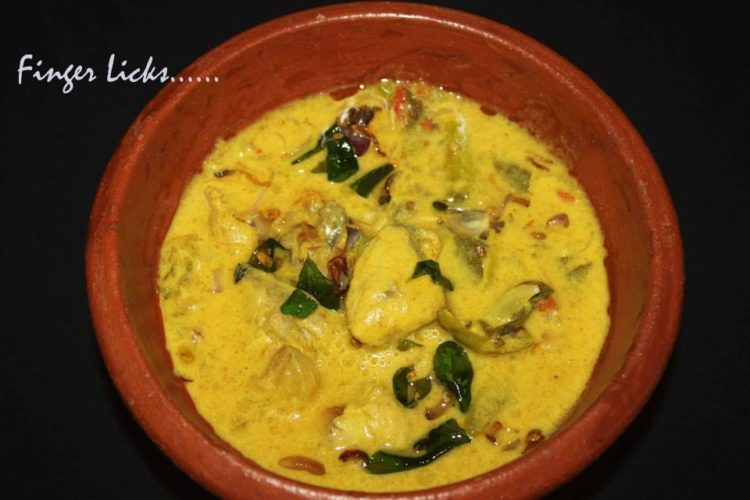 Neymeen Thengapal curry/ Coconut milk Fish Curry