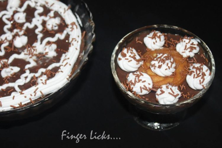 Biscuit Choco Custard Pudding