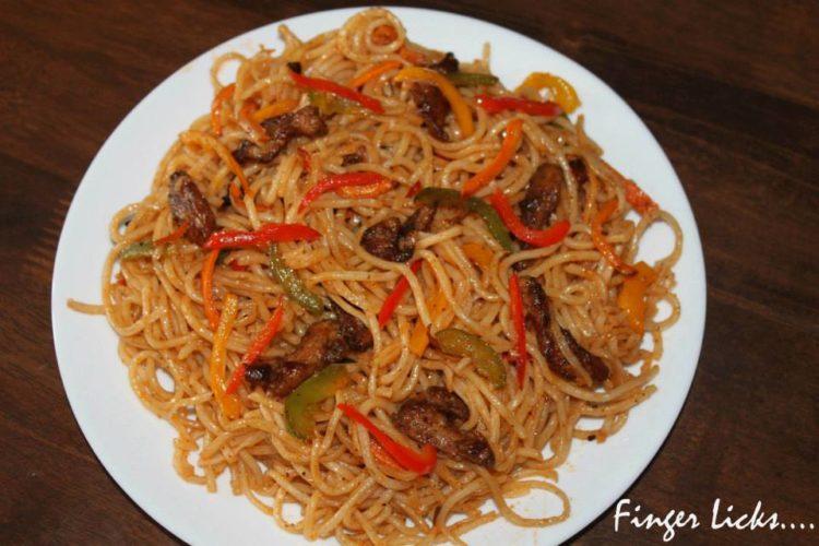 Schezwan Style Chicken Hakka Noodles